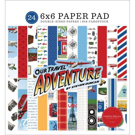 Carta Bella Double-Sided Paper Pad 6X6 - Our Travel Adventure