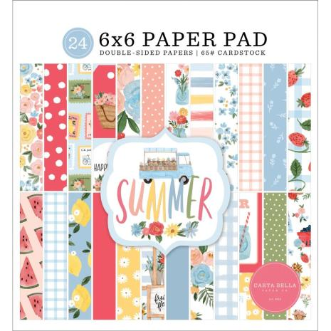 Carta Bella Double-Sided Paper Pad 6X6 - Summer