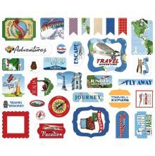 Carta Bella Our Travel Adventure Cardstock Die-Cuts 33/Pkg - Ephemera