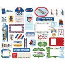 Carta Bella Our Travel Adventure Cardstock Die-Cuts 33/Pkg - Frames & Tags