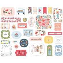 Carta Bella Summer Cardstock Die-Cuts 33/Pkg - Ephemera