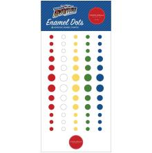 Carta Bella Adhesive Enamel Dots 60/Pkg - Our Travel Adventure