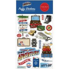 Carta Bella Puffy Stickers - Our Travel Adventure