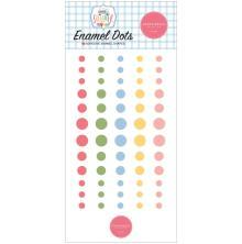 Carta Bella Adhesive Enamel Dots 60/Pkg - Summer