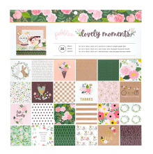 Pebbles Paper Pad 12X12 36/Pkg - Lovely Moments