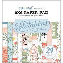 Echo Park Double-Sided Paper Pad 6X6 - Salutations No. 1