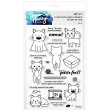 Simon Hurley create. Clear Stamps 6X9 - Cool Cats
