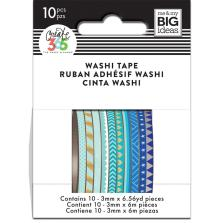 Me & My Big Ideas Happy Planner Skinny Washi Tape - Blue Hues