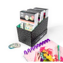 Me & My Big Ideas Stickers Storage Box - Black and White Polka Dot
