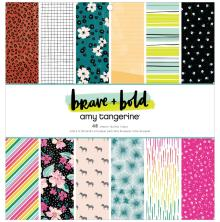 Amy Tan Single-Sided Paper Pad 12X12 - Brave & Bold