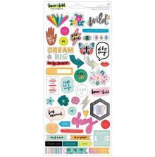 Amy Tan Cardstock Stickers 93/Pkg - Brave & Bold