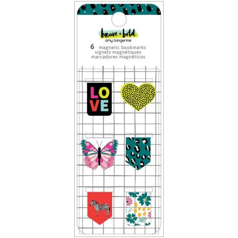Amy Tan Magnetic Bookmarks 6/Pkg - Brave & Bold