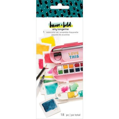 Amy Tangerine Watercolor Set - Brave & Bold