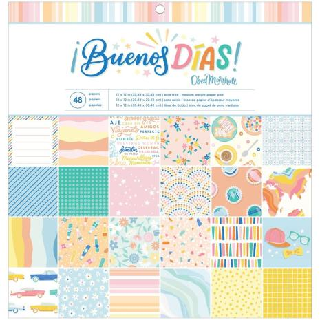 American Crafts Single-Sided Paper Pad 12X12 - Obed Marshall Buenos Dias