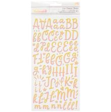 American Crafts Buenos Dias Thickers Stickers 5.5X11 - Alpha