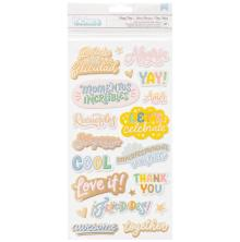 American Crafts Buenos Dias Thickers Stickers 5.5X11 - Phrases