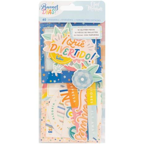 American Crafts Ephemera Cardstock Die-Cuts - Obed Marshall Buenos Dias