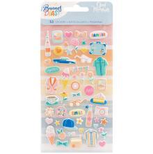 American Crafts Mini Puffy Stickers 53/Pkg - Buenos Dias