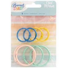 American Crafts Colored O-Rings 8/Pkg - Buenos Dias