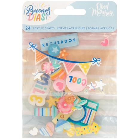 American Crafts Acrylic Shapes 24/Pkg - Obed Marshall Buenos Dias