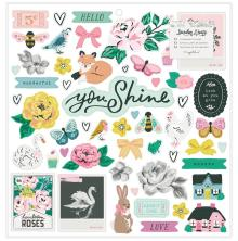 Maggie Holmes Chipboard Stickers 53/Pkg - Garden Party