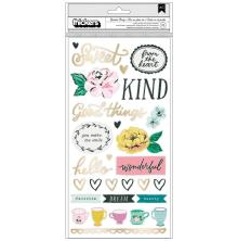 Maggie Holmes Garden Party Thickers Stickers 5.5X11 - Lovely Phrase & Icons