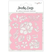 Maggie Holmes Garden Party Stencils 3/Pkg - Flower Builder