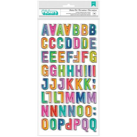 Vicki Boutin Color Study Thickers Stickers 5.5X11 - Modern Art Alphabet