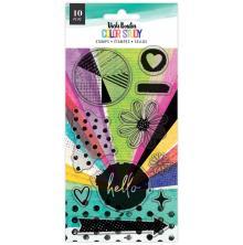 Vicki Boutin Acrylic Stamps 13/Pkg - Color Study Hello