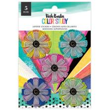 Vicki Boutin Layered Stickers 5/Pkg - Color Study Flowers