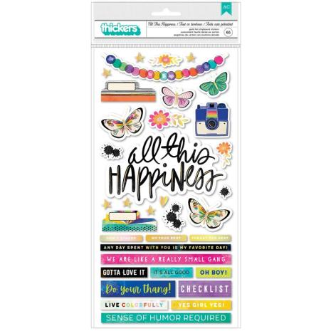 Vicki Boutin Color Study Thickers Stickers 5.5X11 - All This Happiness