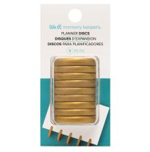 We R Memory Keepers Crop-A-Dile Power Punch Planner Discs 9/Pkg - Gold