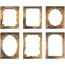 Tim Holtz Idea-Ology Curio Frames 6/Pkg