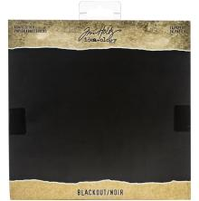 Tim Holtz Idea-Ology Kraft Cardstock Pad 8X8 24/Pkg - Blackout