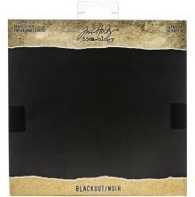 Tim Holtz Idea-Ology Kraft Cardstock Pad 8X8 24/Pkg - Blackout
