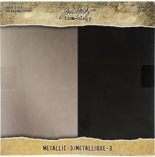 Tim Holtz Idea-Ology Kraft Metallic Paper Pad 8X8 36/Pkg - Metallic 3