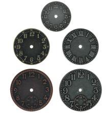 Tim Holtz Idea-Ology Metal Clock Faces 5/Pkg