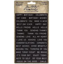 Tim Holtz Idea-Ology Sentiments Label Stickers 68/Pkg