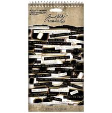 Tim Holtz Idea-Ology Spiral Bound Sticker Book 4.5X8.5 - Metallic