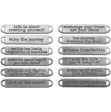 Tim Holtz Idea-Ology Metal Word Bands 12/Pkg - Life