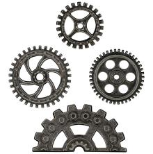 Tim Holtz Idea-Ology Metal Industrial Gears 4/Pkg