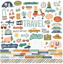 Simple Stories Sticker Sheet 12X12 - Safe Travels