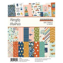 Simple Stories Double-Sided Paper Pad 6X8 - Safe Travels