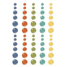 Simple Stories Enamel Dots 60/Pkg - Safe Travels