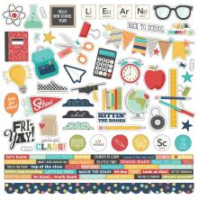 Simple Stories Sticker Sheet 12X12 - School Life