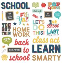 Simple Stories Foam Stickers 45/Pkg - School Life