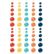 Simple Stories Enamel Dots 60/Pkg - School Life