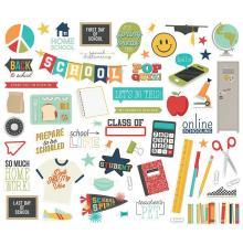Simple Stories Bits & Pieces Die-Cuts 58/Pkg - School Life Icons