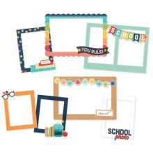 Simple Stories Chipboard Frames 6/Pkg - School Life