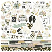 Simple Stories Sticker Sheet 12X12 - Happily Ever After